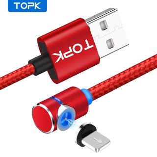 Dây Cáp Sạc TOPK Dành Cho Iphone 7 8 X XR Đầu Nam Châm Kết Nối USB Dài 1m