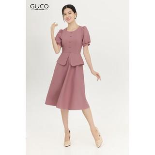 Đầm xòe chân váy kiểu peplum sang trọng GUCO 3030 thumbnail