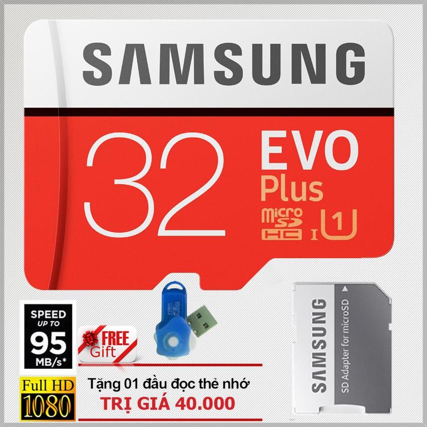Thẻ nhớ 32GB MicroSD Samsung Evo Plus 95MB/s U1 Class...