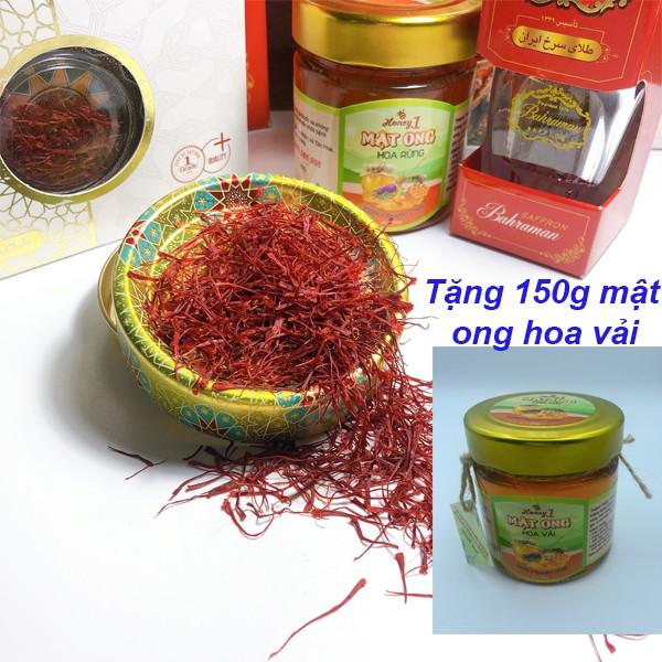 """Saffron Nhụy Hoa Nghệ Tây Chính Hãng hộp 1gr-"""" Tặng 150gr mật ong hoa vải"""""""