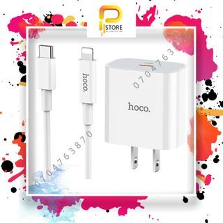 Bộ Sạc Nhanh IPhone PD20W Hoco C76 Kèm Cáp Type-C To Lightning 3A Hỗ Trợ PD3.0/2.0, QC3.0 Cho IPhone/IPad Dài 1M