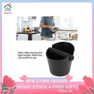 Sixxx Coffee Knock Box Anti-Slip Slag Grounds Bucket with Rubber Bar Making Accessories