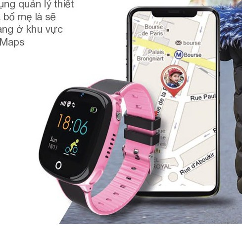 Đồng hồ thông minh trẻ em HW11 - đồng hồ định vị trẻ em GPS - Wifi, nghe gọi điện thoại, bảo vệ các bé cực tốt