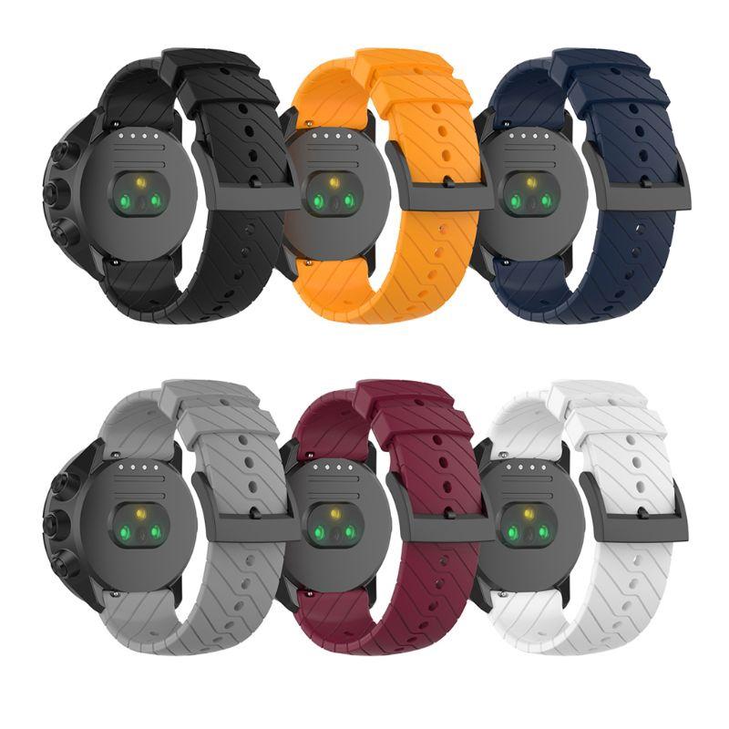 Dây đeo đồng hồ bằng silicon kết cấu vải chéo gắn đồng hồ Suun-to9/Suun-to9 Baro