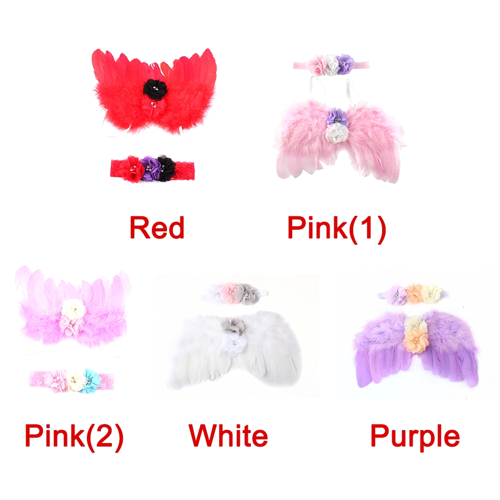 Photo Prop Outfit, Newborn Flower Angel Further Baby Infant Taking by Cyclamen9 (red)