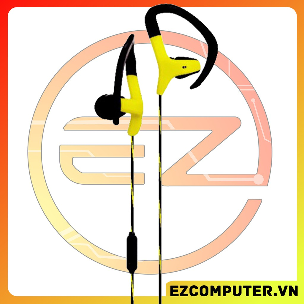 Tai nghe kèm micro thể thao có dây loại nhét tai KY-454 với 4 màu trắng đen xanh đỏ
