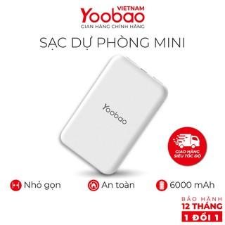 Sạc dự phòng mini 6000mAh Yoobao P6W - Hàng chính hãng - Bảo hành 12 tháng 1 đổi 1
