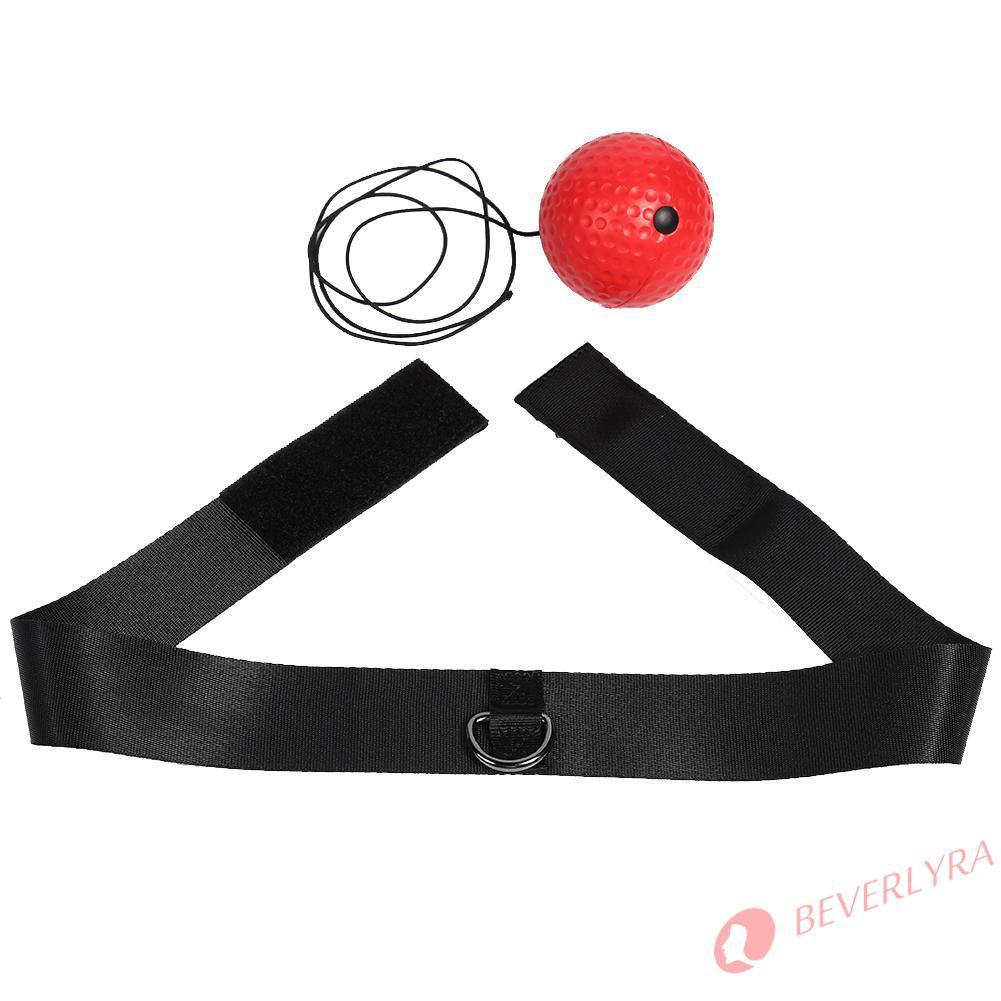 Thiết bị quả bóng đỏ tập tốc độ phản xạ chơi boxing kèm băng đô đeo đầu