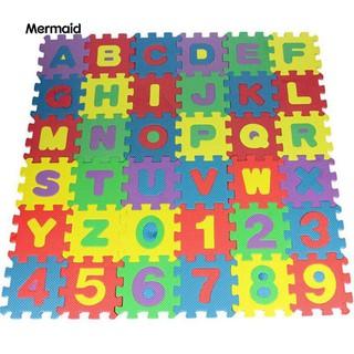 36Pcs/Set Child Kid Novelty Alphabet Number EVA Foam Puzzle Learning Mats Toy
