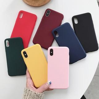 iPhone 6 6S Plus 7 8 Plus XS Max Xr Casing Ultra Thin Colorfull Soft TPU Case