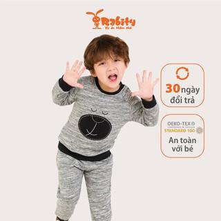 Bộ quần áo nỉ dài tay bé trai Rabity 8674
