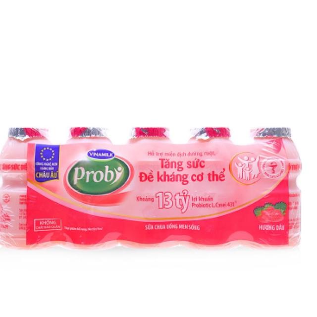 Sữa chua uống men sống hương dâu Probi Vinamilk 5*65ml - 2530596 , 431379322 , 322_431379322 , 35000 , Sua-chua-uong-men-song-huong-dau-Probi-Vinamilk-565ml-322_431379322 , shopee.vn , Sữa chua uống men sống hương dâu Probi Vinamilk 5*65ml
