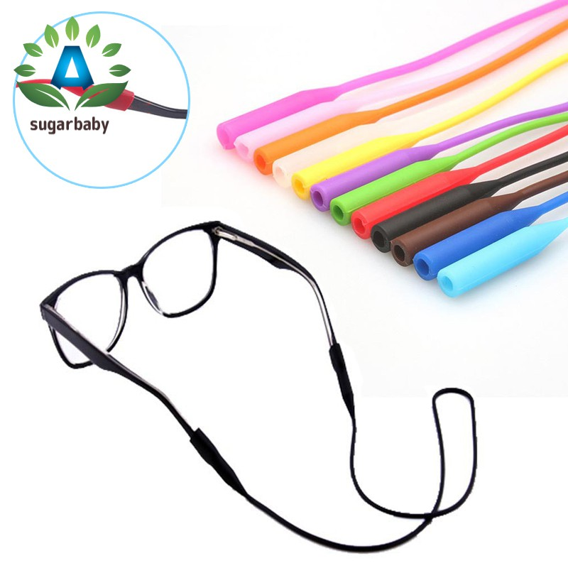 56cm Silicone Glasses Chain Strap Cable Holder Neck Lanyard for Reading Glasses Keeper