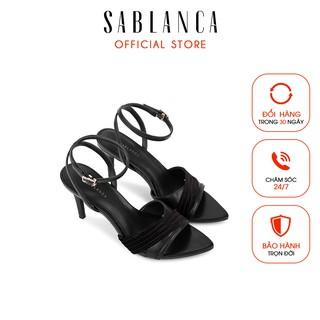 [Mã FAMALLT5 giảm 15% đơn 150k] Giày sandal cao gót phối vải - Sablanca 5050SN0109