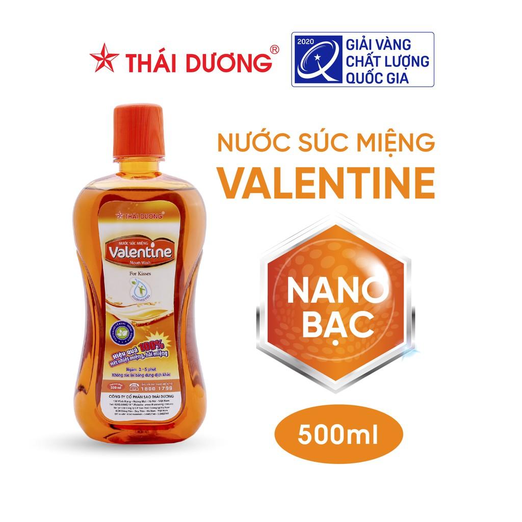 Nước súc miệng trị nhiệt miệng, hôi miệng Valentine Sao Thái Dương 500ml