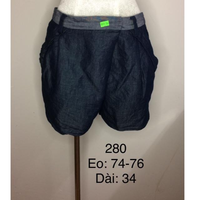[280] Quần short jean giấy 2hand Nhật