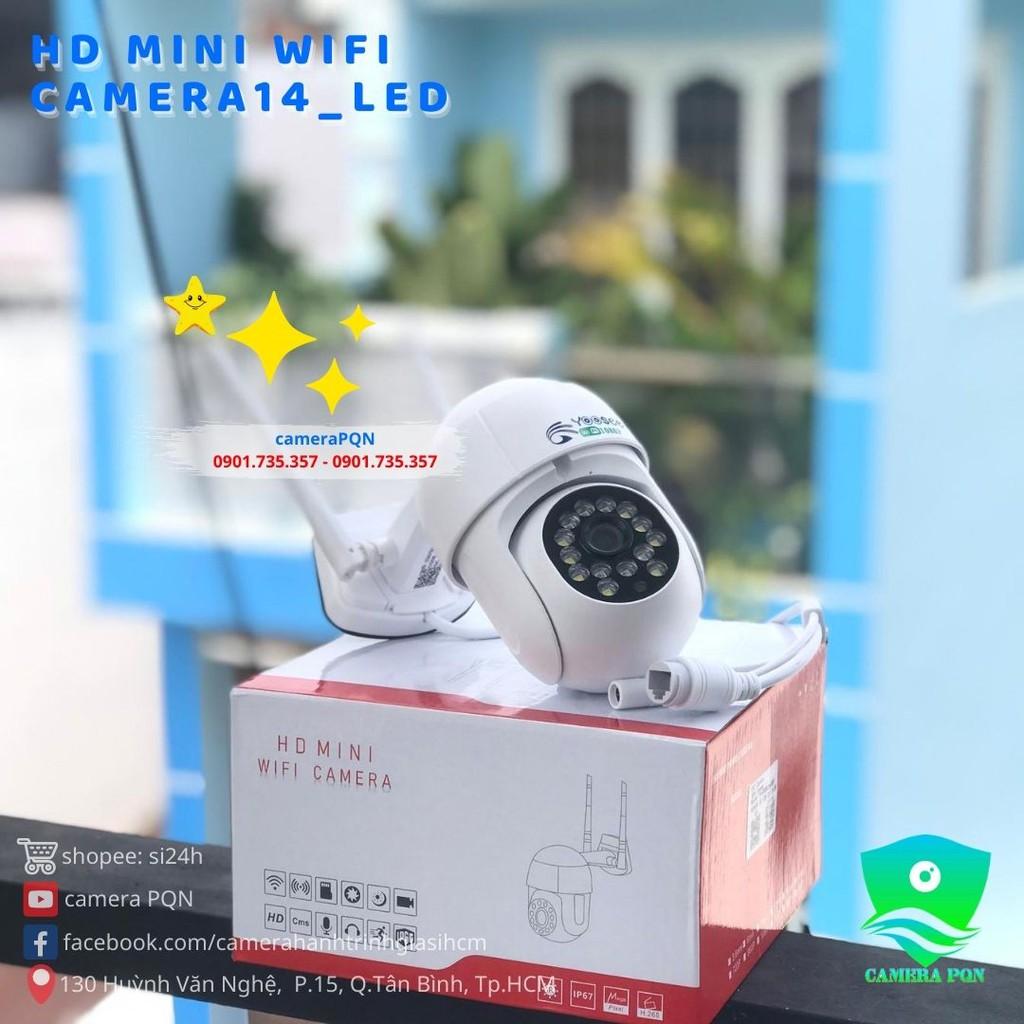ComBo Kèm Thẻ Nhớ 64GB - Camera PTZ Ngoài Trời Mini 14_LED
