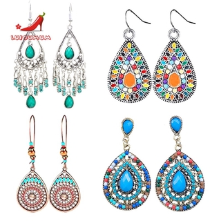 □*4 Pairs of Bohemian Vintage Earrings Pendant Earrings Jewelry Accessories Women's Accessories for Girls