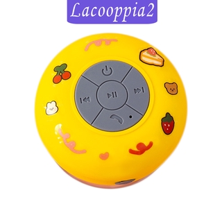 [LACOOPPIA2]Waterproof Wireless Mini Bluetooth Speakers With Solid Suction Cup Portable
