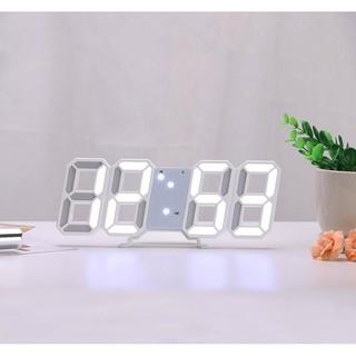 Đồng hồ Led 3D thông minh thiết kế treo tường hoặc để bàn Let's Decor
