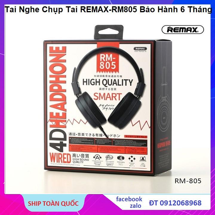 Tai Nghe Chụp Tai Cao Cấp Remax RM-805 Dành Cho Game Thủ Và Nghe Nhạc Cực Đỉnh