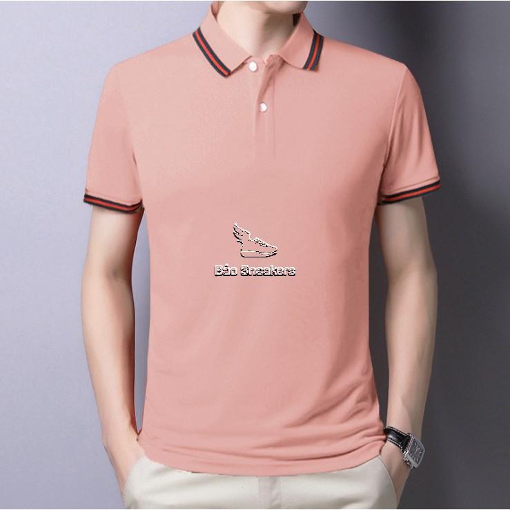 Áo polo nam nữ, áo thun nam nữ cộc tay form rộng thể thao, áo phông cặp có cổ tay lỡ đẹp