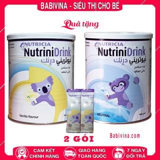 [CHÍNH HÃNG] Đủ Vị Sữa NutriniDrink 400g Hương Vani, Hương Neutral (Nutrini Drink)