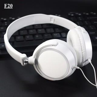 Tai nghe chụp tai F20 Màu Trắng Đen có thể gấp gọn