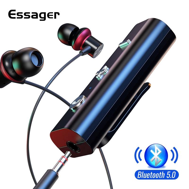 Đầu thu âm thanh không dây Essager kết nối Bluetooth 5.0 có cổng tai nghe 3.5mm chất lượng cao