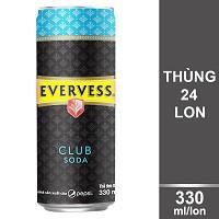 Thùng 24 Lon Nước Giải Khát Evervess Soda 330ml