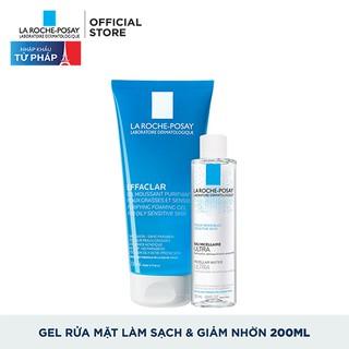 Hình ảnh Bộ Gel rửa mặt làm sạch & giảm nhờn La Roche-Posay 200ml & nước tẩy trang 50ml-0