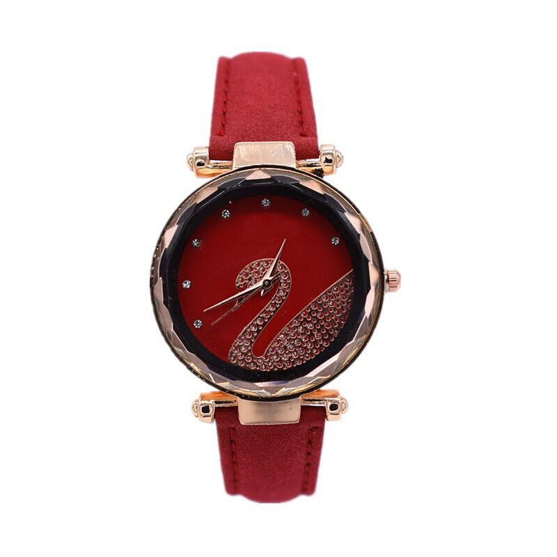 Đồng hồ thời trang nữ SHSHD mặt đính thiên nga G32
