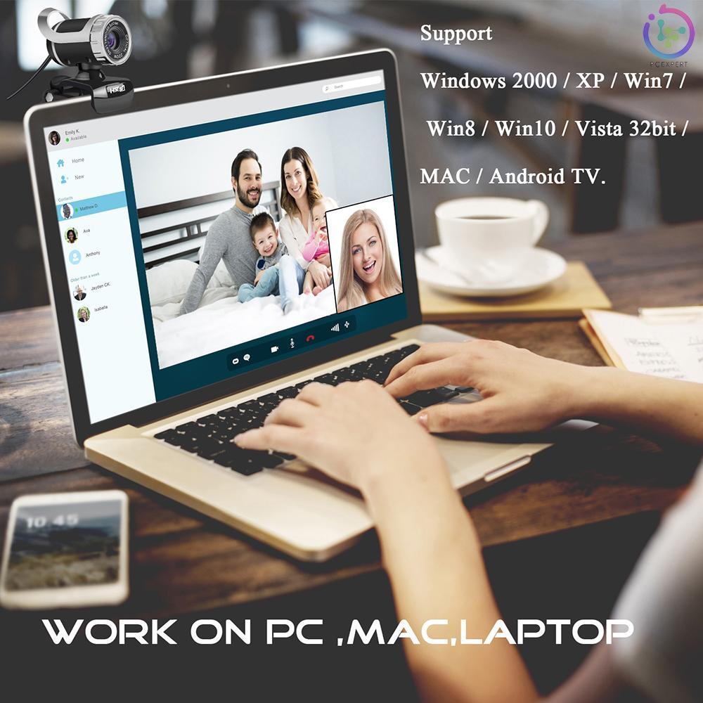 Webcam Hxsj S9 1080p Usb 2.0 Tích Hợp Micro Hấp Thụ Âm Thanh Cho Pc Laptop Đen