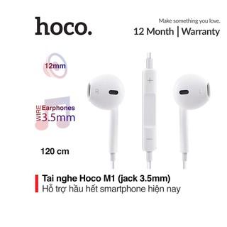 Tai nghe nhét tai Hoco M1 âm thanh Super Bass sử dụng Jack 3.5mm cho iPhone
