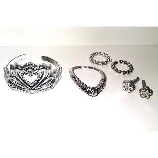 Bộ Trang sức cho Búp bê tráng nhũ bạc lấp lánh xinh xắn