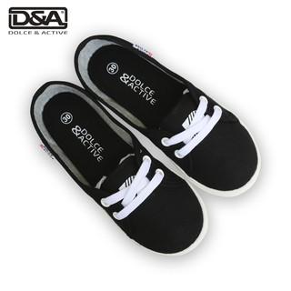 Giày slipon bé gái D&A EPG1928 đen thumbnail