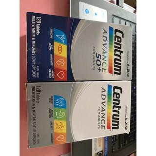 (Bill Air) 120 viên Vitamin tổng hợp cho nam và nữ trên dưới 50 tuổi Centrum Advance Women and Men