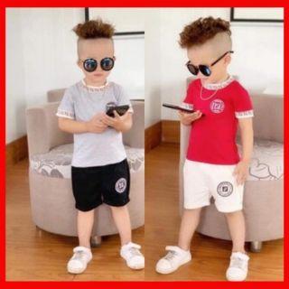 Bộ quần áo trẻ em bé trai, Bộ cộc tay mùa hè cho bé, Bộ Cotton bé trai M42