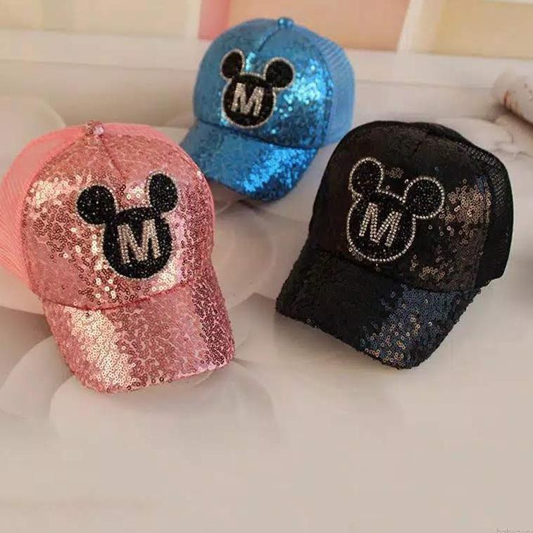 〄 Mũ lưỡi trai in hình chuột Mickey 7.7 Mega Day ngộ nghĩnh đáng yêu cho bé