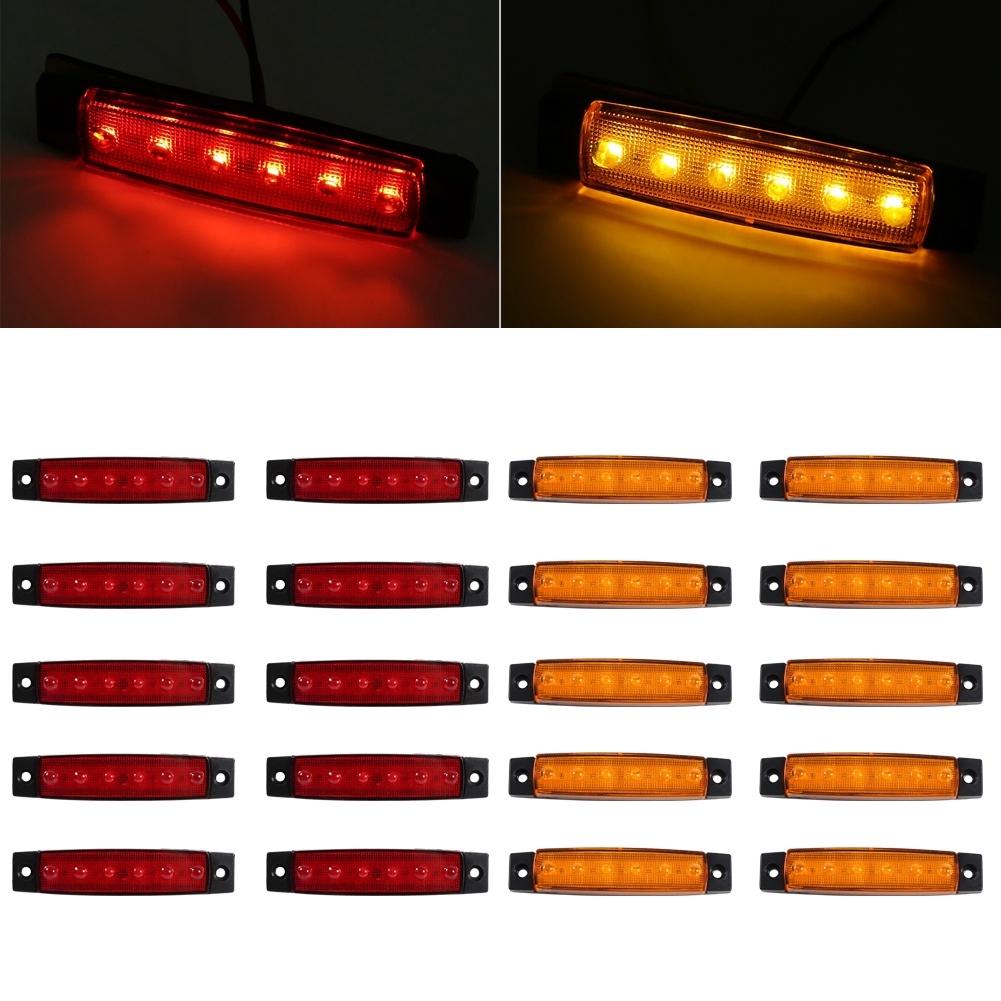 Set 10 đèn LED gắn hông xe tải 6 bóng chuyên dụng
