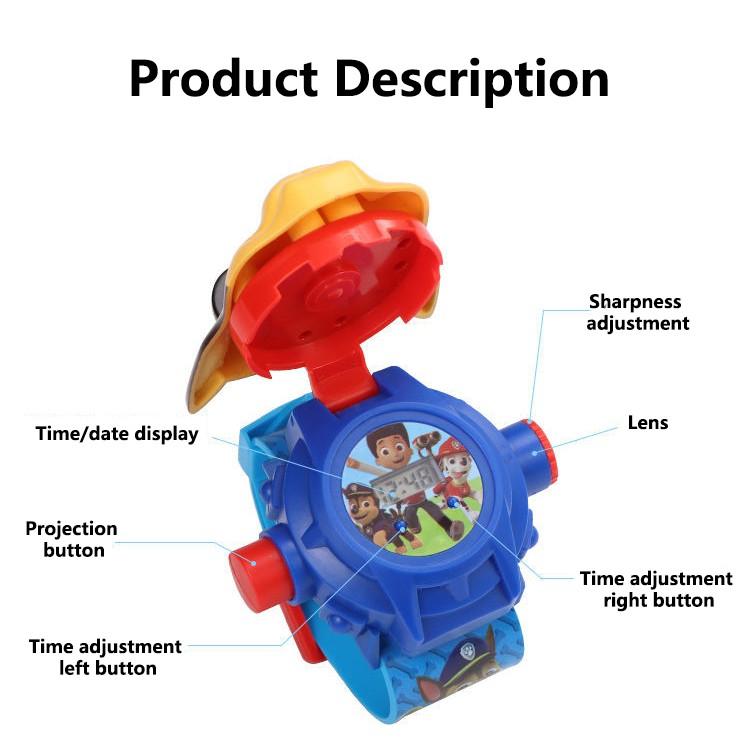Đồng hồ đồ chơi hình hoạt hình 3D xinh xắn dành cho bé
