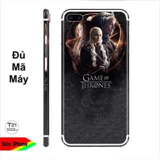 Miếng dán skin hình Game Of Throne (Mã 003) cho iPhone ( có đủ mã máy ) thumbnail