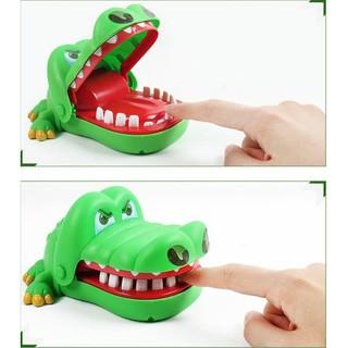 Bộ đồ chơi khám răng cá sấu Xanh (Loại SIZE to)