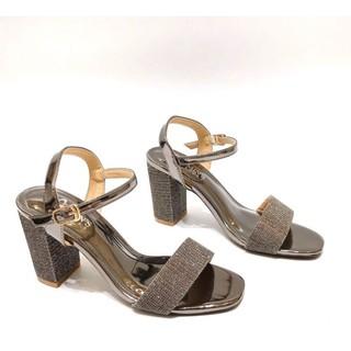 Giày Xăng Đan Min's Shoes Đính Nhũ S68 Đồng Nhũ