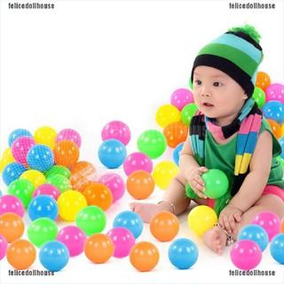 [🎀🎀Felice] 10Pcs 70mm Colorful Ball Fun Ball Soft Plastic Ocean Ball Baby Kid Toy Swim Toys [VN]