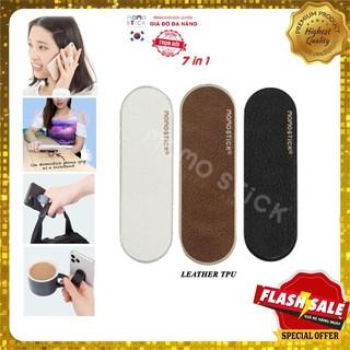 Giá đỡ ,kẹp điện thoại và chân đế,giá điện thoại để bàn_ momostick bảo hành trọn đời_Mẫu Da thumbnail