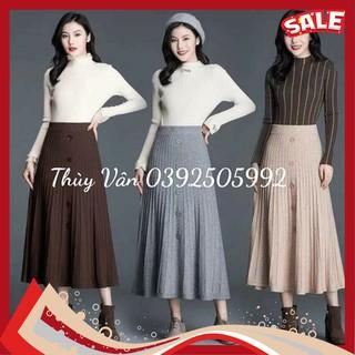 Chân váy len xoè dáng dài hàng Quảng Châu loại 1 (Order)