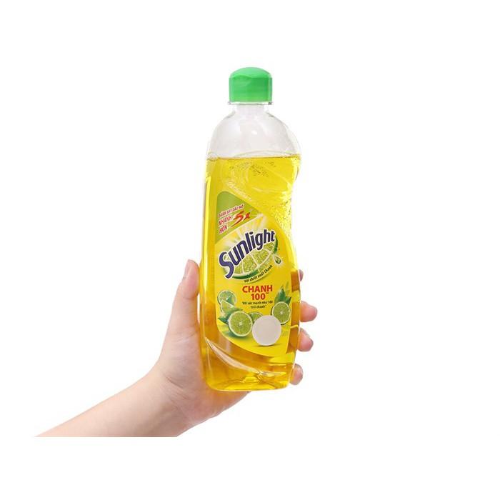 Nước rửa chén Sunlight Chanh  chai 400g