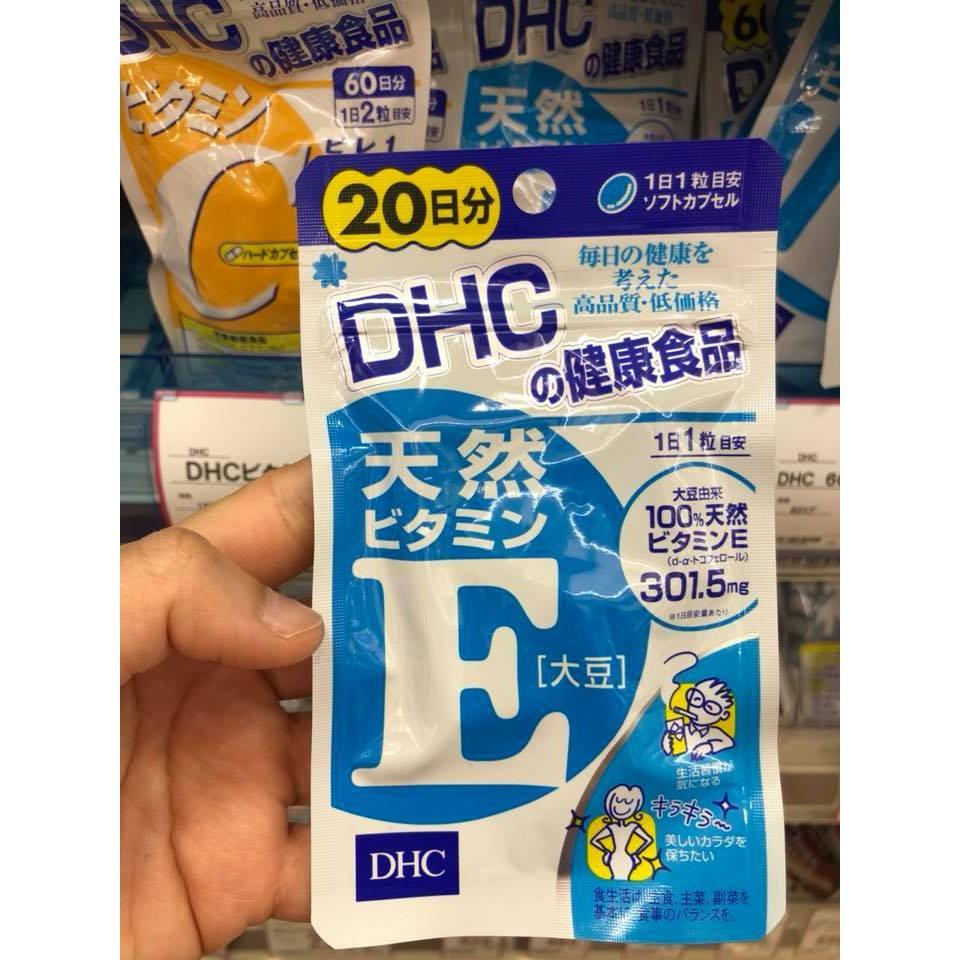 Viên uống bổ sung DHC Vitamin E 20 ngày Nhật Bản - 3606934 , 1084352366 , 322_1084352366 , 325000 , Vien-uong-bo-sung-DHC-Vitamin-E-20-ngay-Nhat-Ban-322_1084352366 , shopee.vn , Viên uống bổ sung DHC Vitamin E 20 ngày Nhật Bản