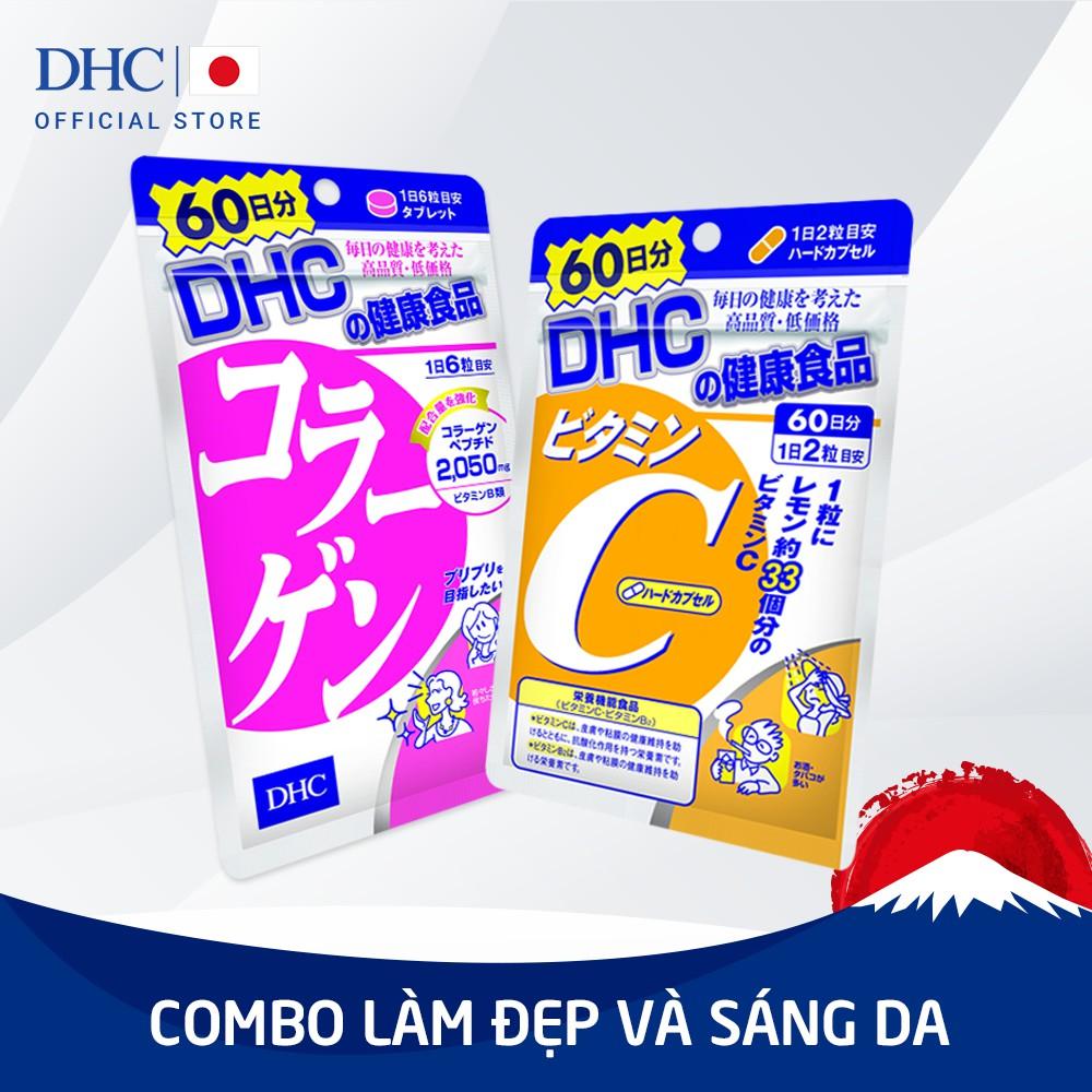 Combo Viên uống DHC Làm sáng và Đẹp da 60 ngày (Collagen & VitC)